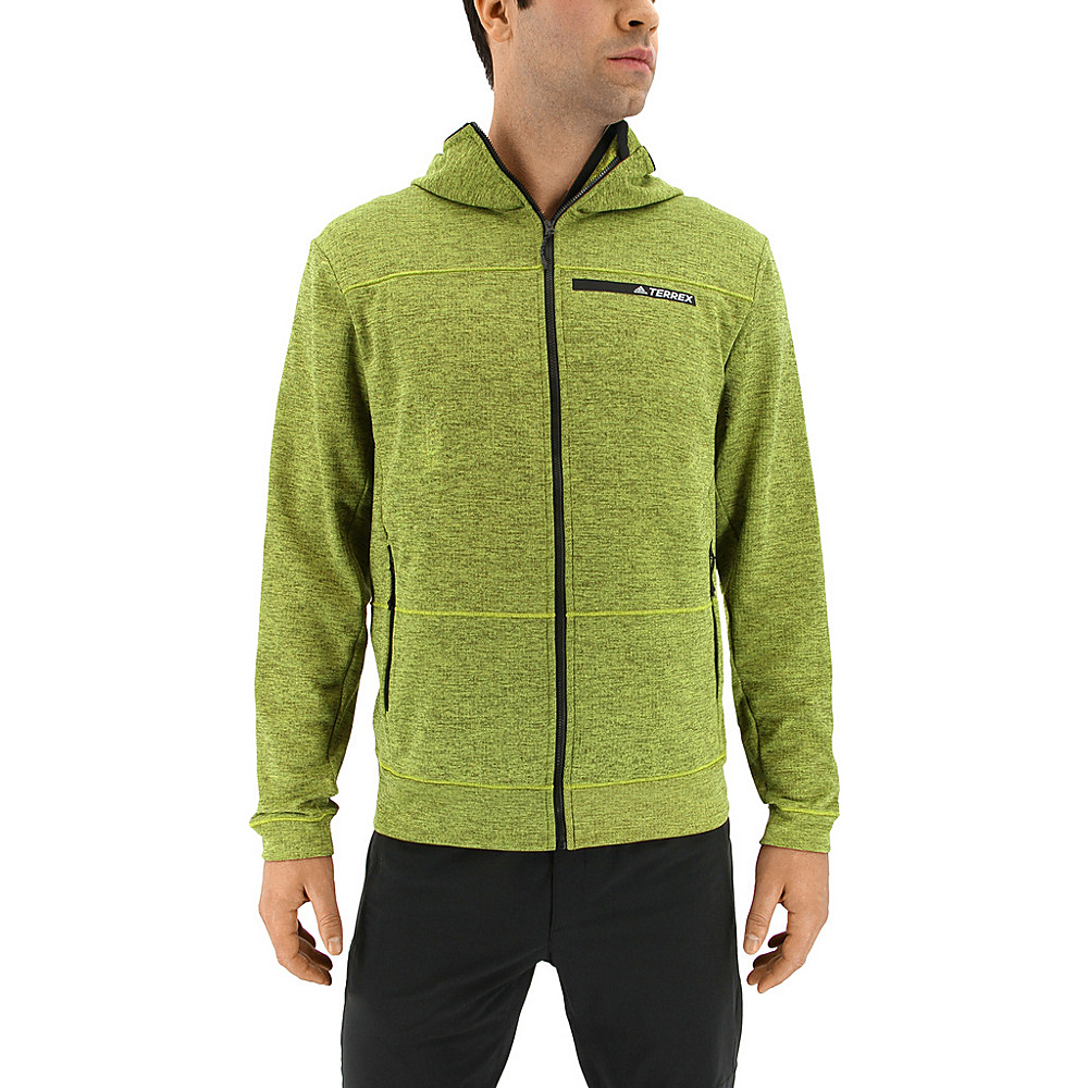 adidas outdoor Mens Climb The City Hoodie S - Semi Solar Yellow - adidas outdoor Mens Apparel - Apparel & Footwear, Men's Apparel