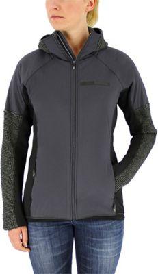 adidas apparel Womens Terrex Climaheat Techrock Hooded Fleece L - Dgh Solid Grey - adidas apparel Women's Apparel