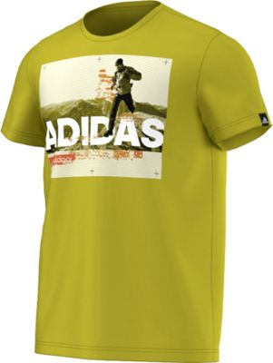 adidas apparel Mens Trail Running Tee S - Unity Lime - adidas apparel Men's Apparel