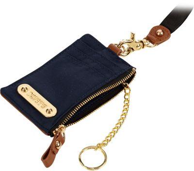 Davey's Lanyard Card Case Wristlet Navy - Davey's Fabric Handbags