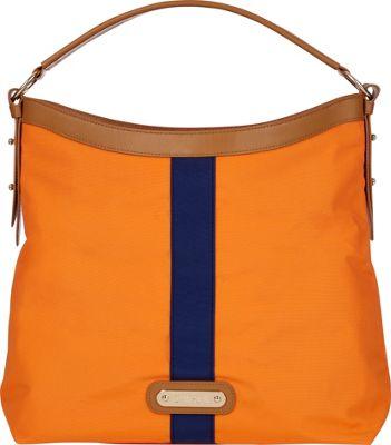 Davey's Hobo Stripe Orange/Navy Stripe - Davey's Fabric Handbags