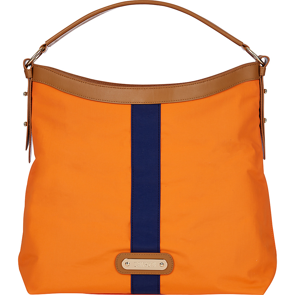 Davey s Hobo Stripe Orange Navy Stripe Davey s Fabric Handbags