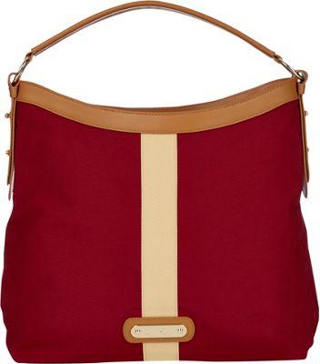 Davey's Hobo Stripe Crimson/Gold Stripe - Davey's Fabric Handbags