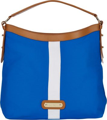 Davey's Hobo Stripe Blue/White Stripe - Davey's Fabric Handbags