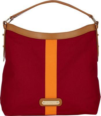 Davey's Hobo Stripe Maroon/Orange Stripe - Davey's Fabric Handbags