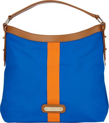 Davey's Hobo Stripe Royal/Orange Stripe - Davey's Fabric Handbags