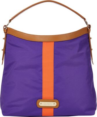 Davey's Hobo Stripe Purple/Orange Stripe - Davey's Fabric Handbags