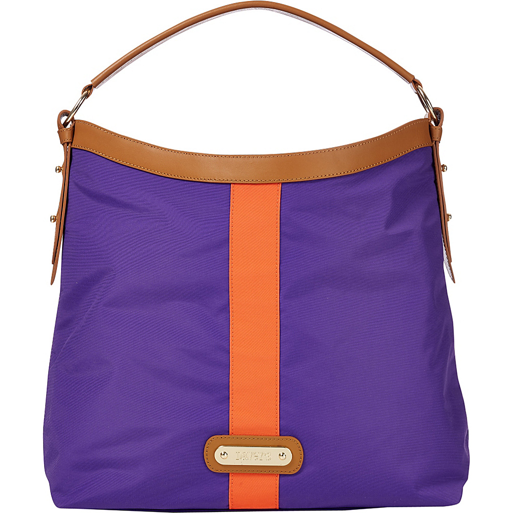 Davey s Hobo Stripe Purple Orange Stripe Davey s Fabric Handbags