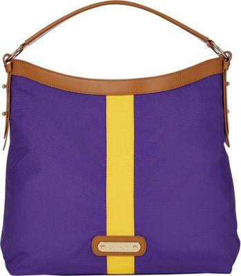 Davey's Hobo Stripe Purple/Gold Stripe - Davey's Fabric Handbags