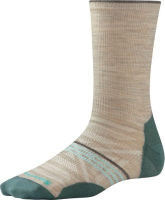 Smartwool Womens PhD Outdoor Ultra Light Crew Oatmeal - Medium - Smartwool Women's Legwear/Socks