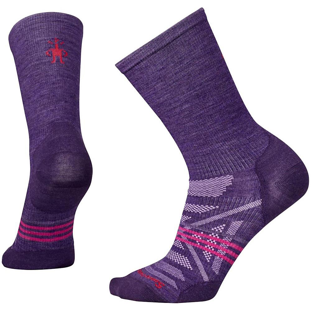 Smartwool Womens PhD Outdoor Ultra Light Crew Mountain Purple Large Smartwool Women s Legwear Socks