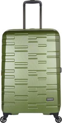 Antler Prism Embossed DLX 27 inch Hardside Spinner Olive - Antler Large Rolling Luggage