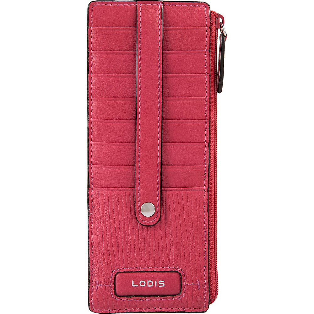 Lodis Cordoba Credit Card Case with Zipper Pocket Fuchsia - Lodis Womens Wallets - Women's SLG, Women's Wallets