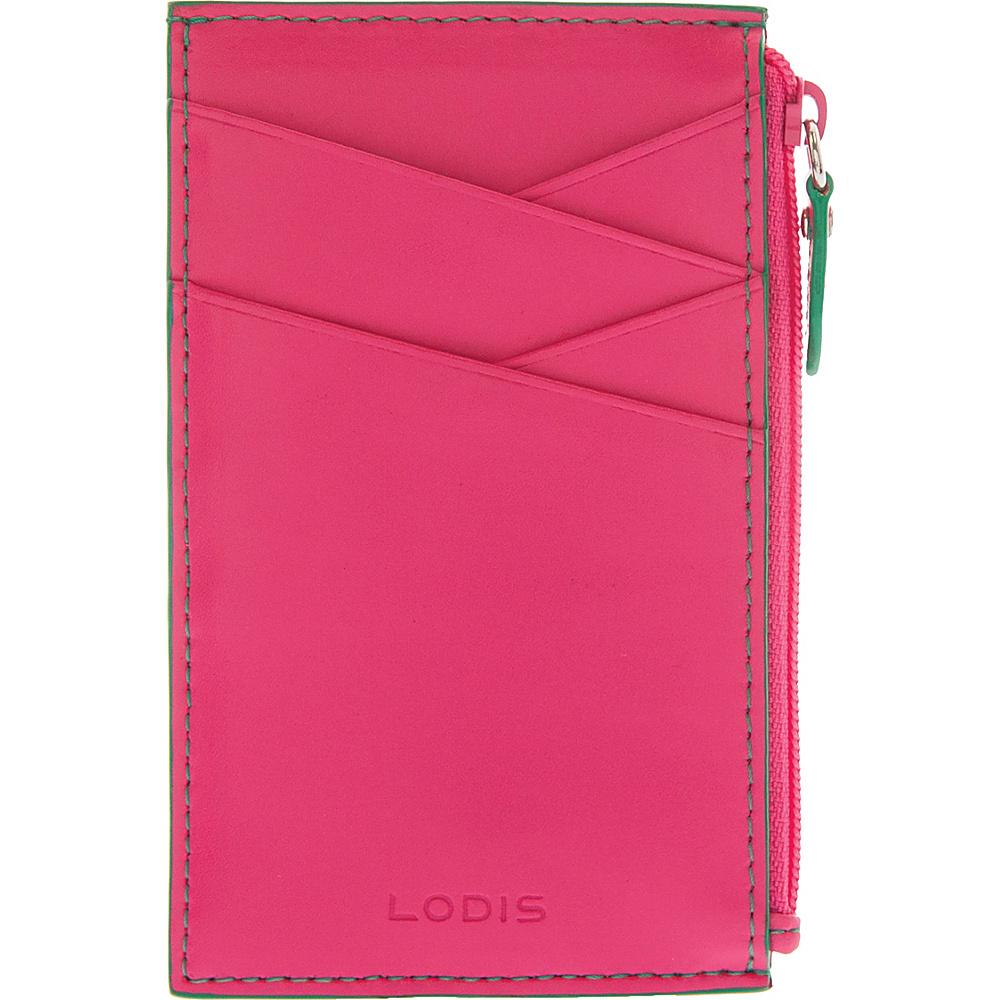 Lodis Audrey Ina Card Case Azalea/Green - Lodis Womens Wallets - Women's SLG, Women's Wallets