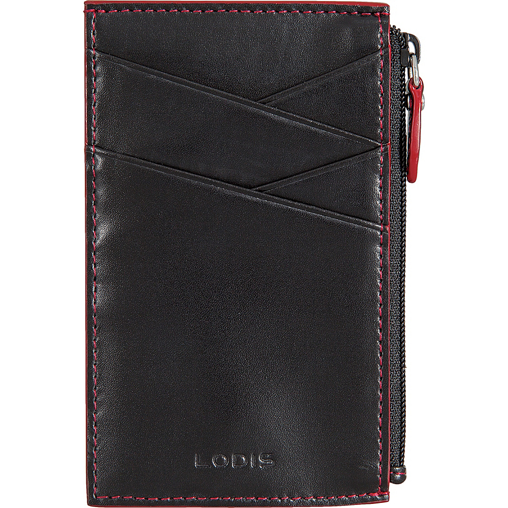 Lodis Audrey Ina Card Case Black/ Red - Lodis Womens Wallets - Women's SLG, Women's Wallets
