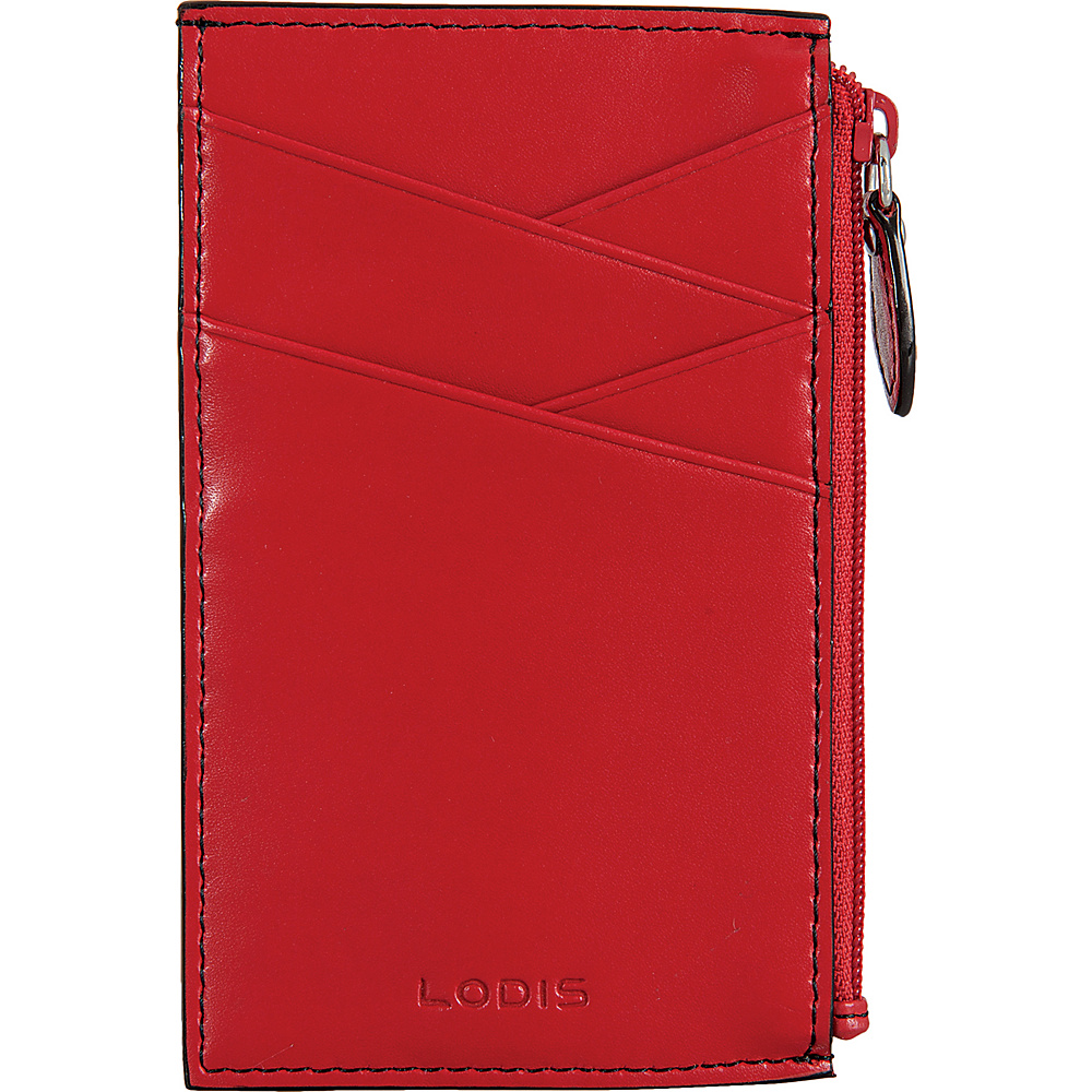 Lodis Audrey Ina Card Case Red/Black - Lodis Womens Wallets - Women's SLG, Women's Wallets