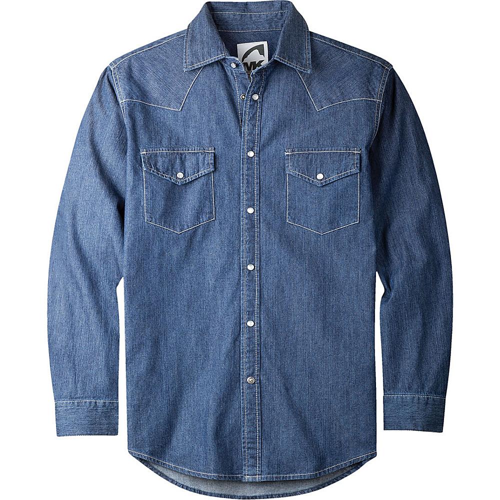 Mountain Khakis Original Mountain Denim Shirt M - Dark Indigo - Mountain Khakis Mens Apparel - Apparel & Footwear, Men's Apparel