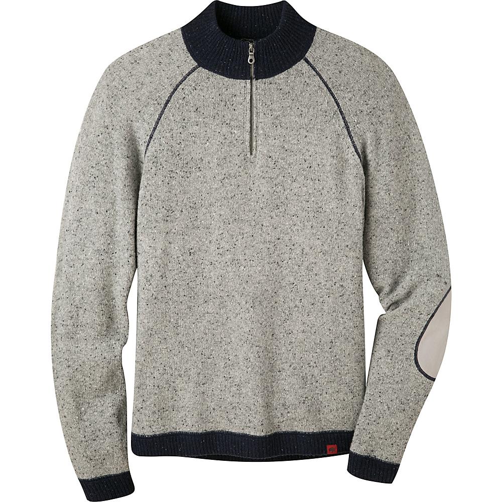Mountain Khakis Fleck Qtr Zip Sweater XL - Lunar - Mountain Khakis Mens Apparel - Apparel & Footwear, Men's Apparel