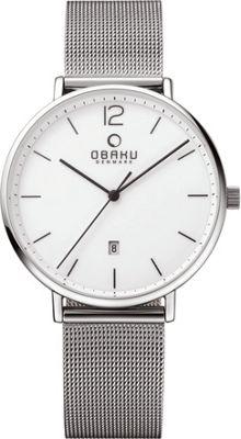 Obaku Watches Mens Stainless Steel Mesh Watch Silver/Silver - Obaku Watches Watches