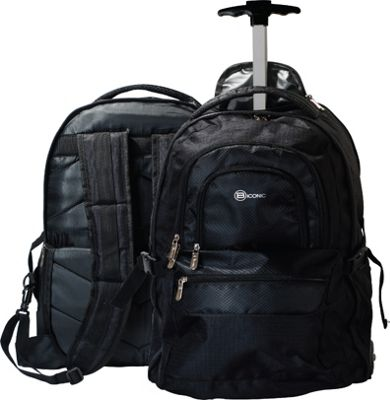 B iconic Voyager Laptop Backpack Black - B iconic Business & Laptop Backpacks