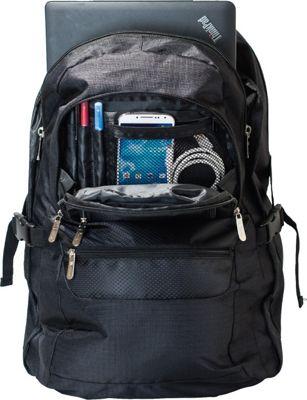 B iconic Voyager Laptop Backpack Black - B iconic Business & Laptop Backpacks