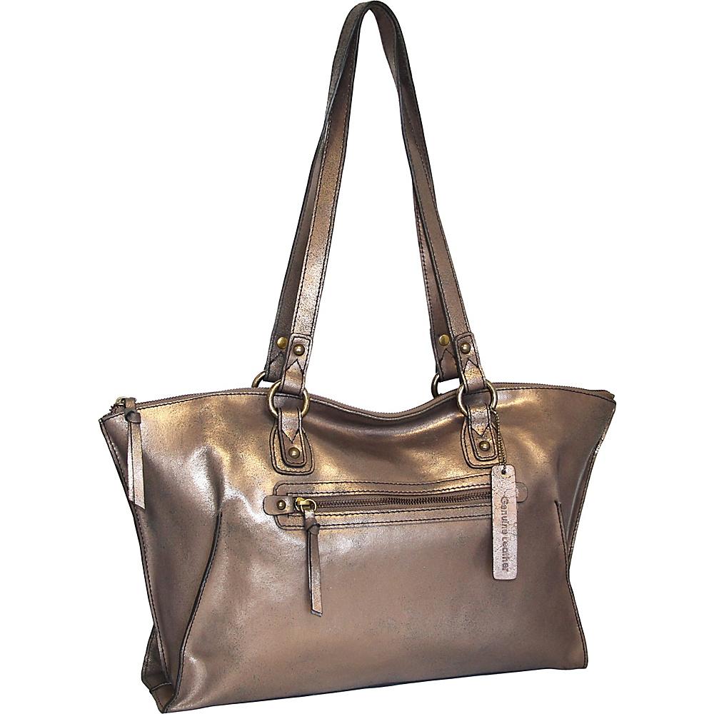 Nino Bossi Crackle Tote Bronze - Nino Bossi Leather Handbags - Handbags, Leather Handbags