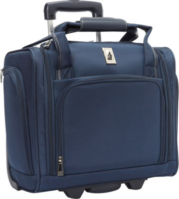London Fog Knightsbridge Hyperlight 15 inch Under Seat Bag Navy - London Fog Softside Carry-On