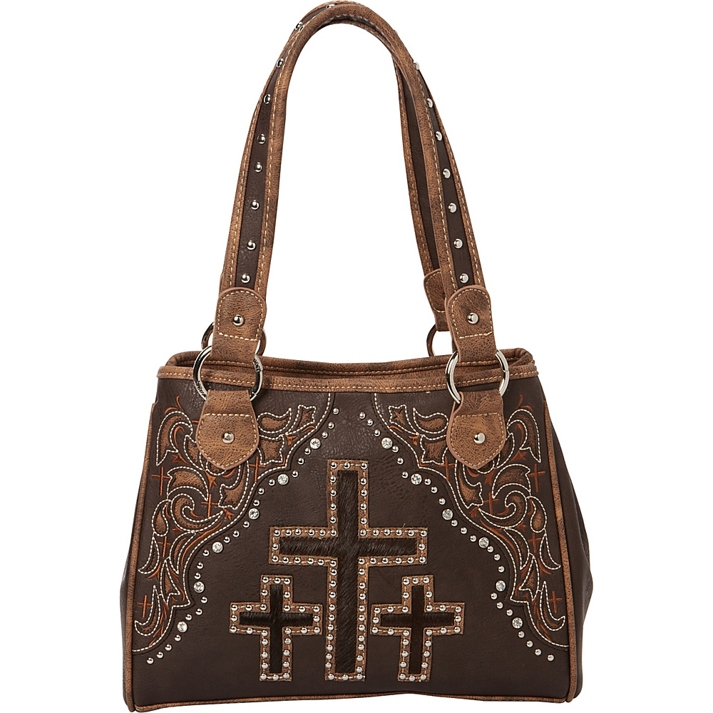 Montana West Spiritual Handbag Collection Coffee Montana West Manmade Handbags