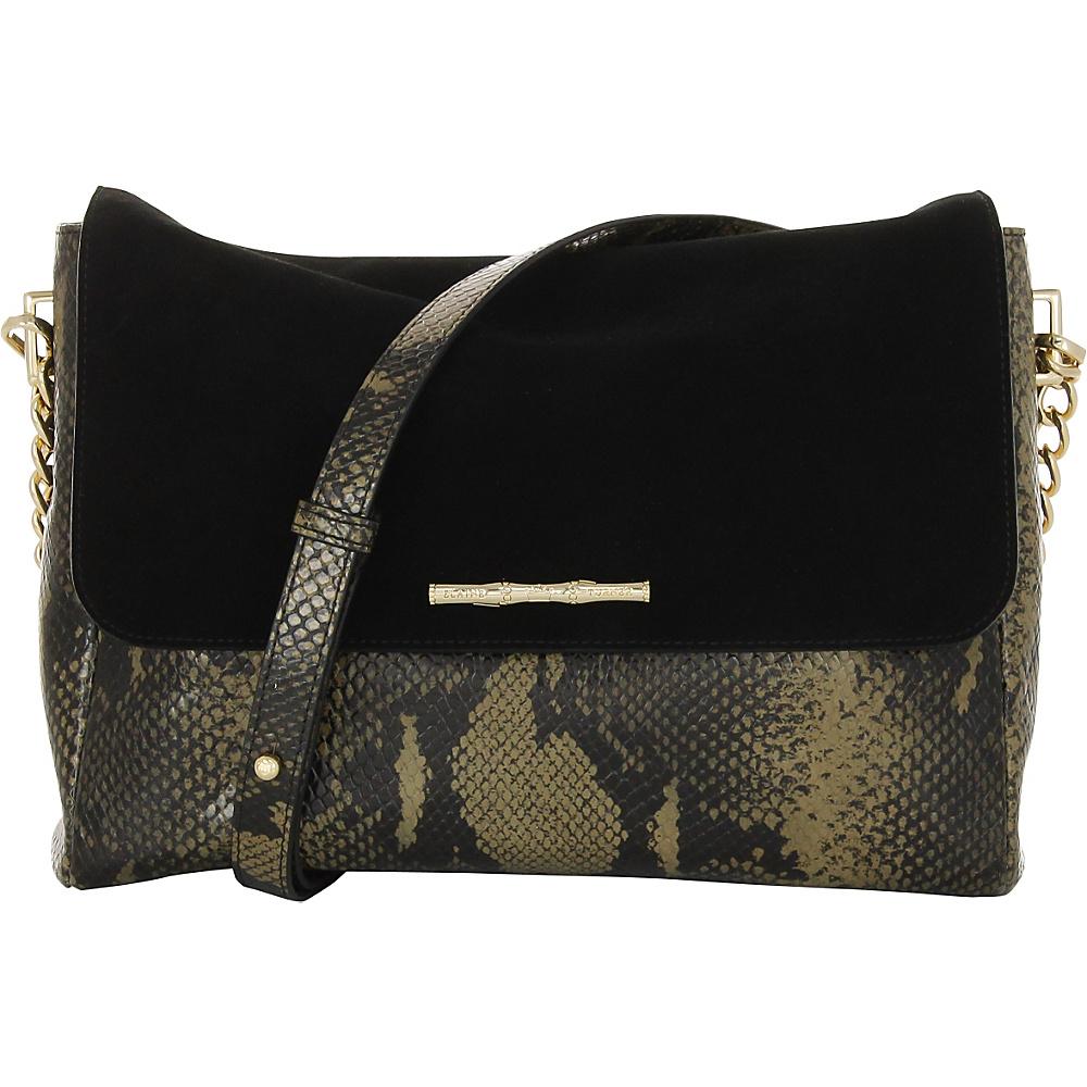 Elaine Turner Naimie Python Shoulder Bag Golden Moss Python Elaine Turner Designer Handbags