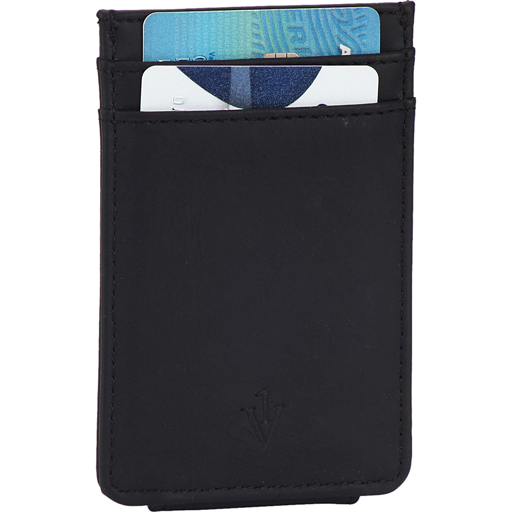 1Voice The Striker RFID Blocking Leather Card Holder Magnetic Money Clip Black 1Voice Men s Wallets