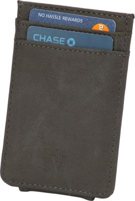 1Voice The Striker RFID Blocking Leather Card Holder & Magnetic Money Clip Grey - 1Voice Men's Wallets