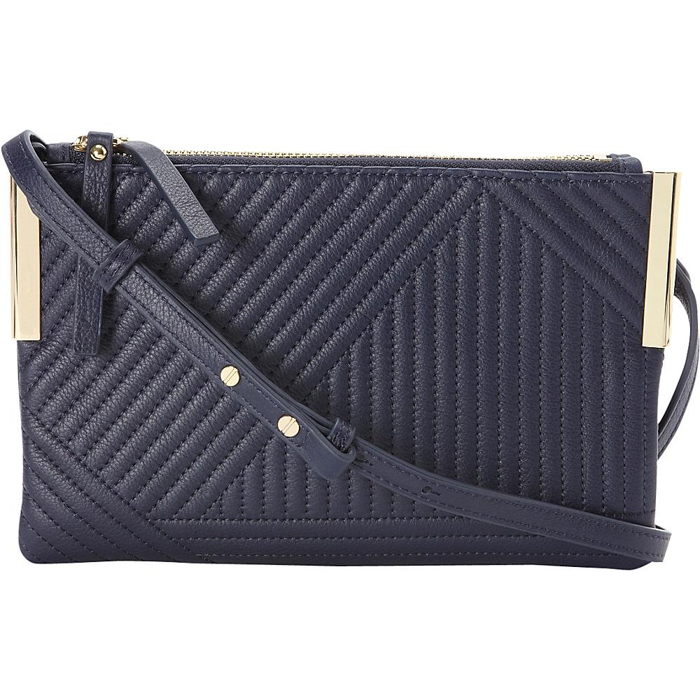 Vince Camuto Tina Crossbody Indigo Geometric Vince Camuto Designer Handbags