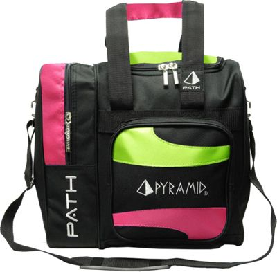 Pyramid Path Deluxe Single Tote Bowling Bag Hot Pink/Lime Green - Pyramid Bowling Bags