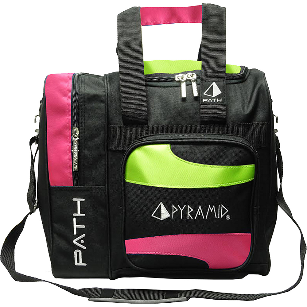 Pyramid Path Deluxe Single Tote Bowling Bag Hot Pink Lime Green Pyramid Bowling Bags