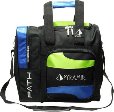 Pyramid Path Deluxe Single Tote Bowling Bag Lime Green/Royal Blue - Pyramid Bowling Bags