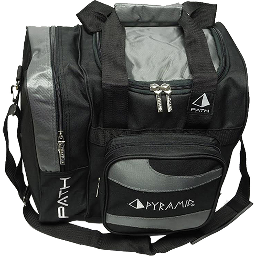 Pyramid Path Deluxe Single Tote Bowling Bag Silver Pyramid Bowling Bags