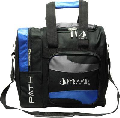 Pyramid Path Deluxe Single Tote Bowling Bag Royal Blue/Silver - Pyramid Bowling Bags