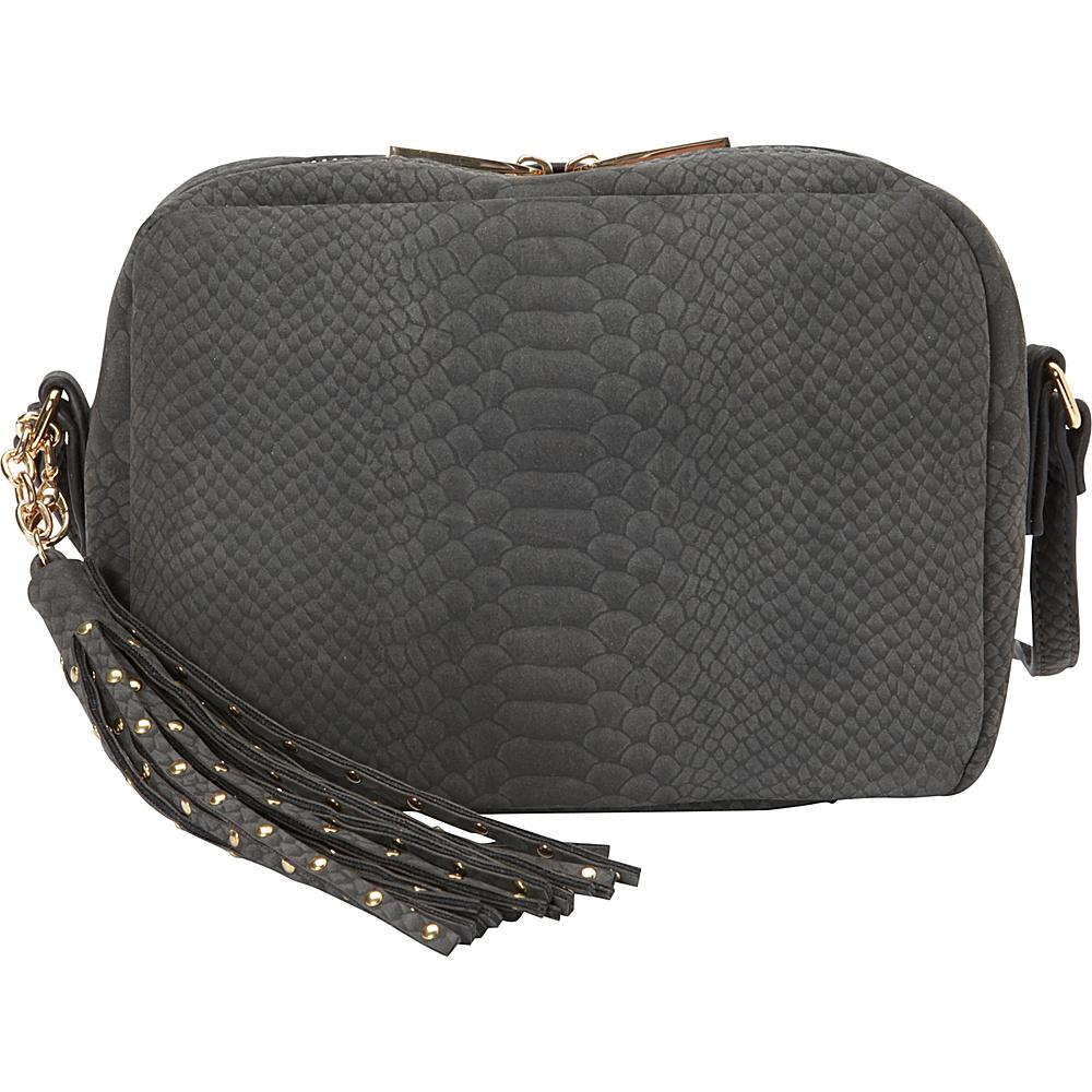 deux lux Juniper Messenger Charcoal deux lux Leather Handbags