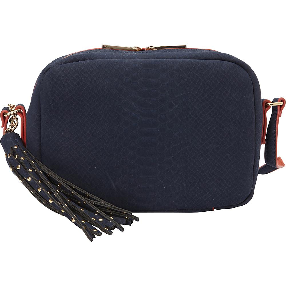 deux lux Juniper Messenger Navy deux lux Leather Handbags