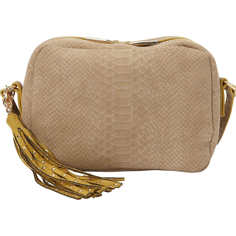 deux lux Juniper Messenger Mink deux lux Leather Handbags