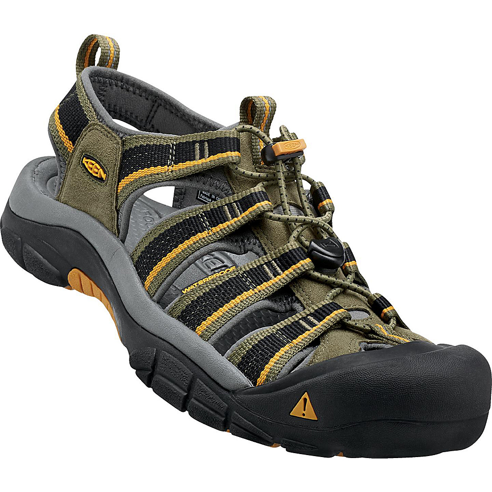 KEEN Newport H2 Sandal 11.5 - Burnt Olive/Golden Yellow - KEEN Mens Footwear - Apparel & Footwear, Men's Footwear