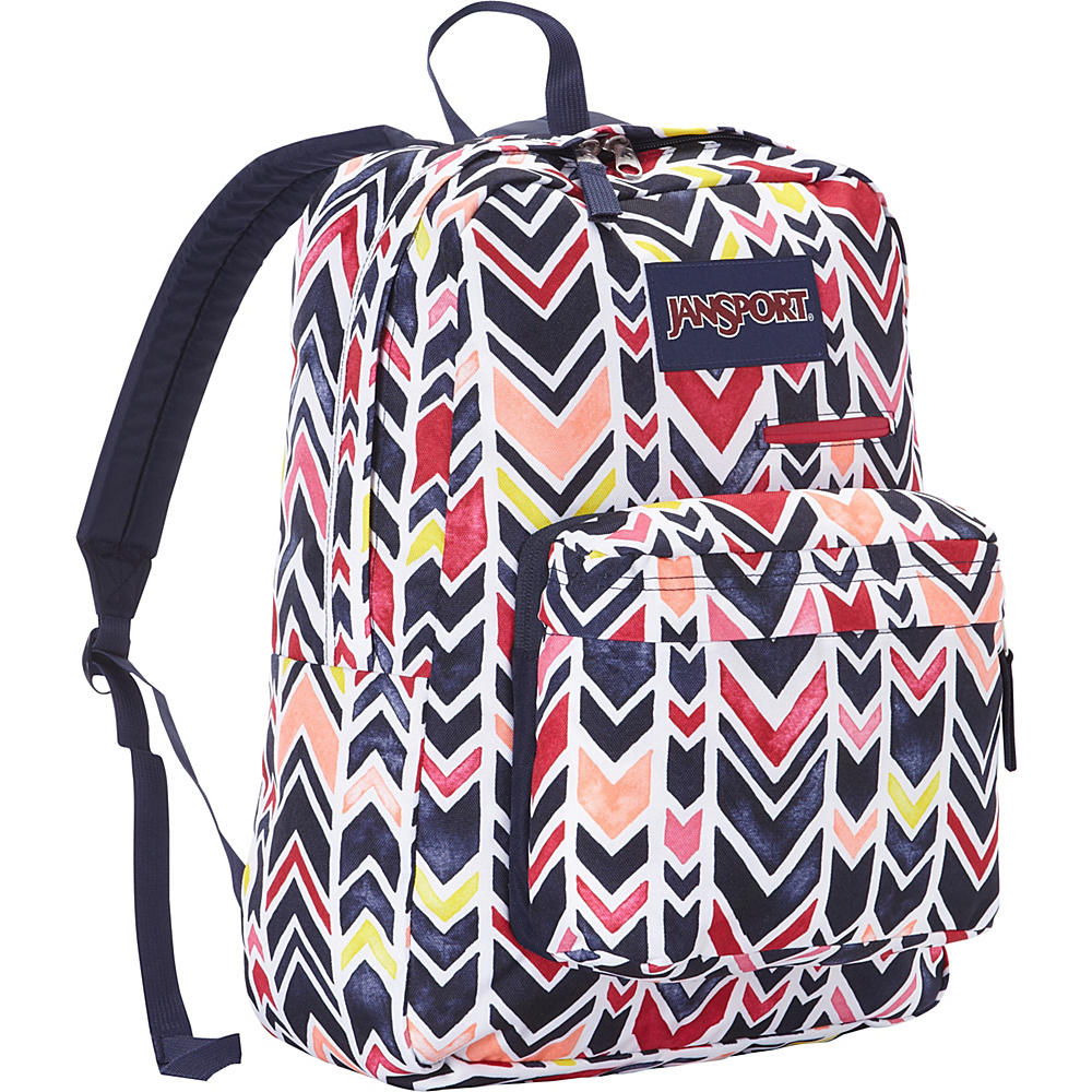 JanSport Digibreak Laptop Backpack- Discontinued Colors JanSport Navy Watercolor Chevron - JanSport Business & Laptop Backpacks - Backpacks, Business & Laptop Backpacks