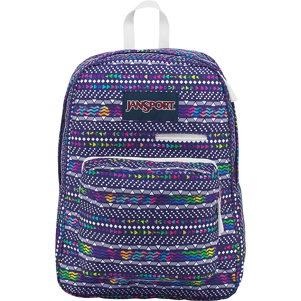 JanSport Digibreak Laptop Backpack- Sale Colors Tribal Wave Multi - JanSport Business & Laptop Backpacks
