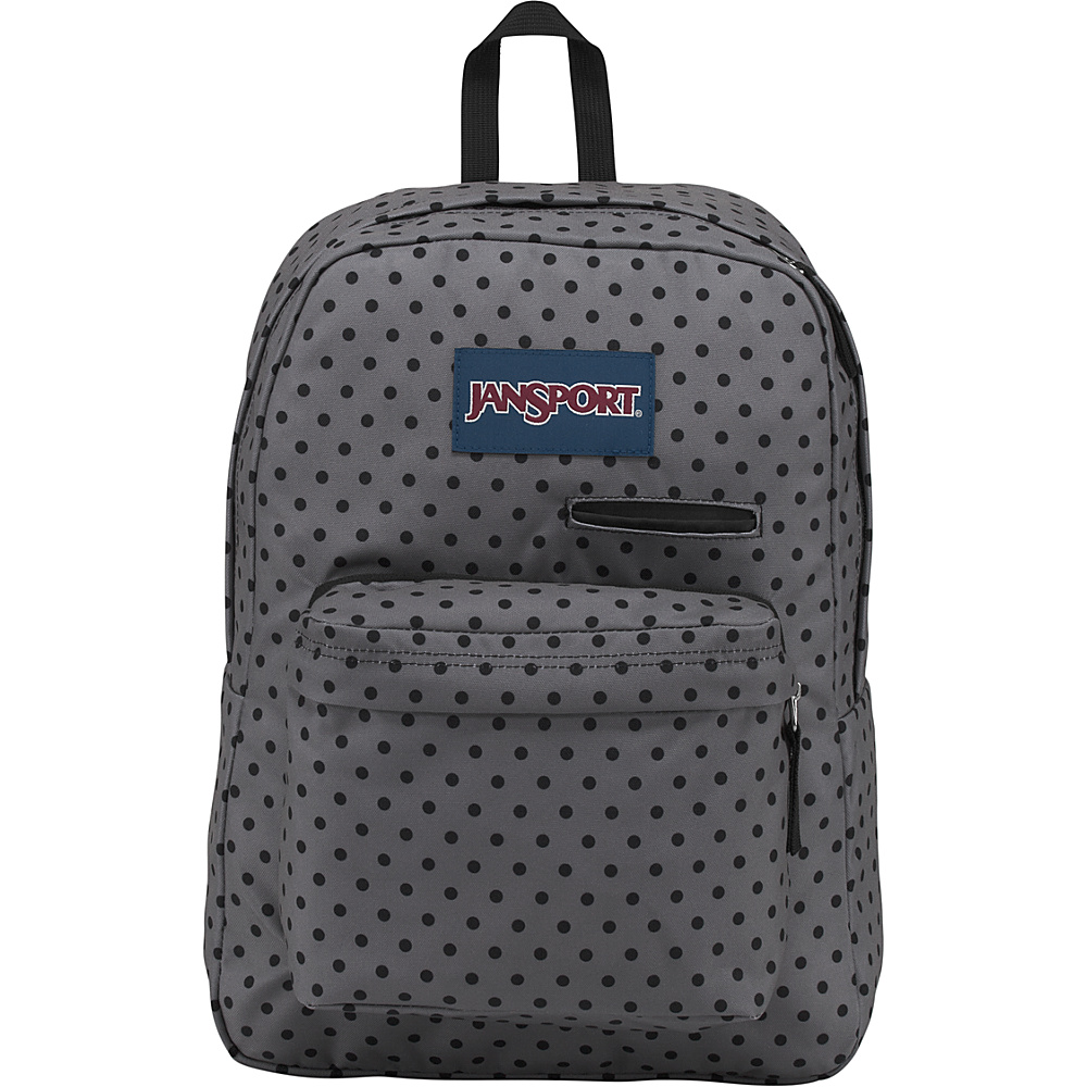 JanSport Digibreak Laptop Backpack- Sale Colors Black Dot-O-Rama - JanSport Business & Laptop Backpacks