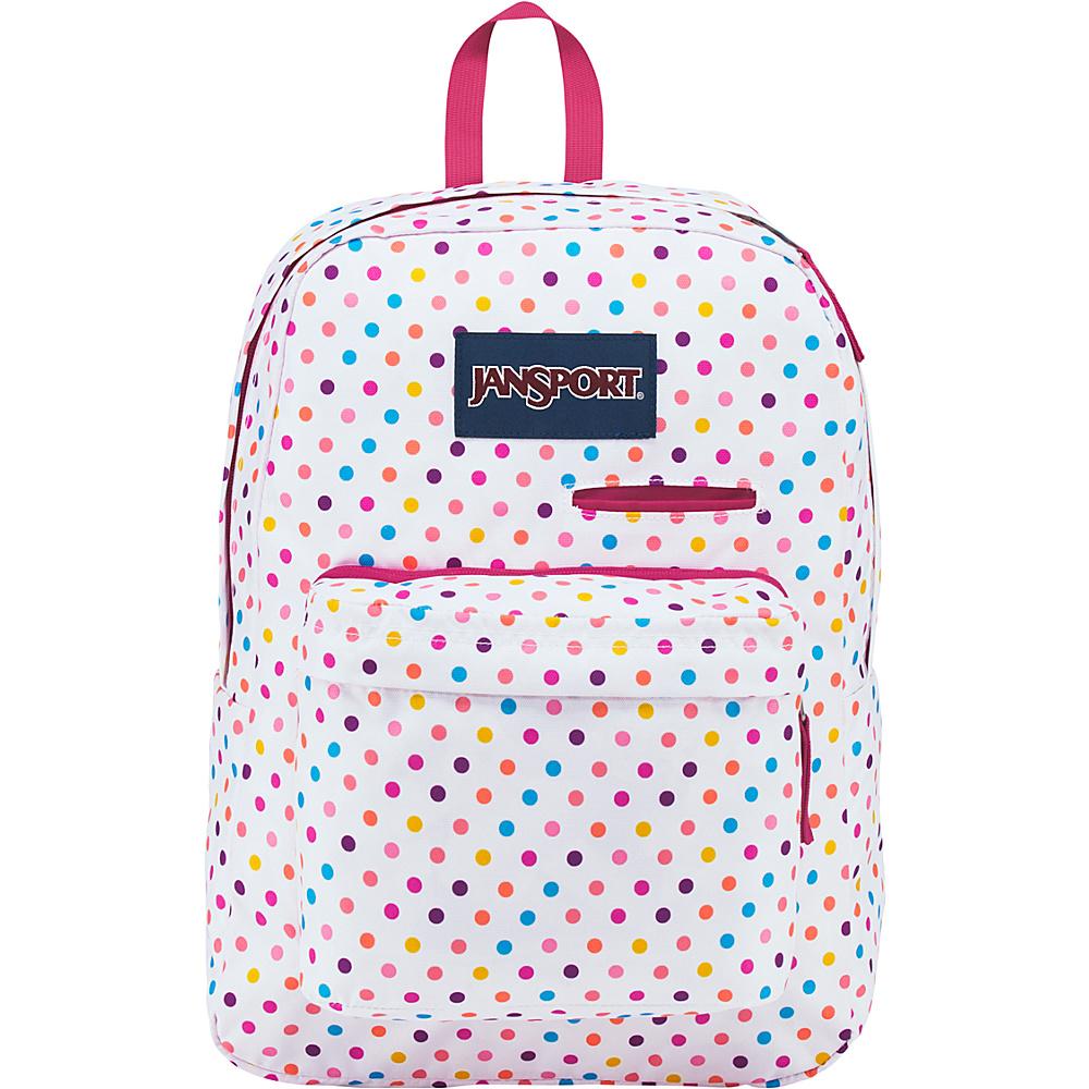 JanSport Digibreak Laptop Backpack- Sale Colors Spot-O-Rama White - JanSport Business & Laptop Backpacks