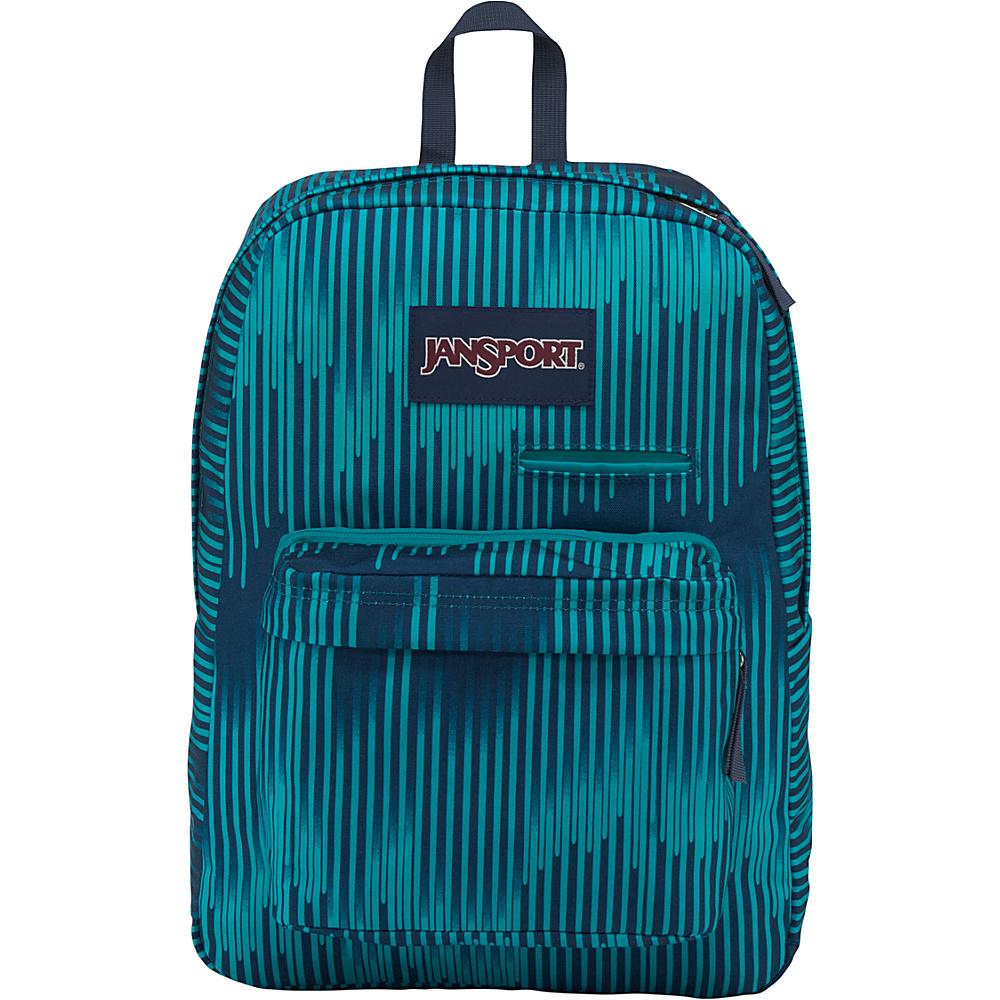 JanSport Digibreak Laptop Backpack- Sale Colors Algiers Blue Running Stripe - JanSport Business & Laptop Backpacks