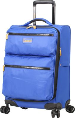 LUCAS Ultra Light Weight Originals 20 inch Exp Spinner Blue - LUCAS Softside Carry-On