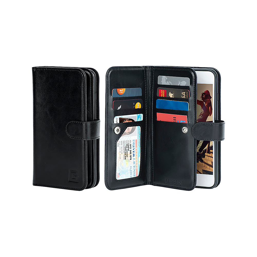 Gear Beast Dual Folio Wallet iPhone 6 Plus Case Black iPhone 6 Plus Gear Beast Electronic Cases