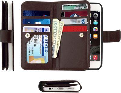 Gear Beast Dual-Folio Wallet iPhone 6 Plus Case Brown - iPhone 6 Plus - Gear Beast Electronic Cases