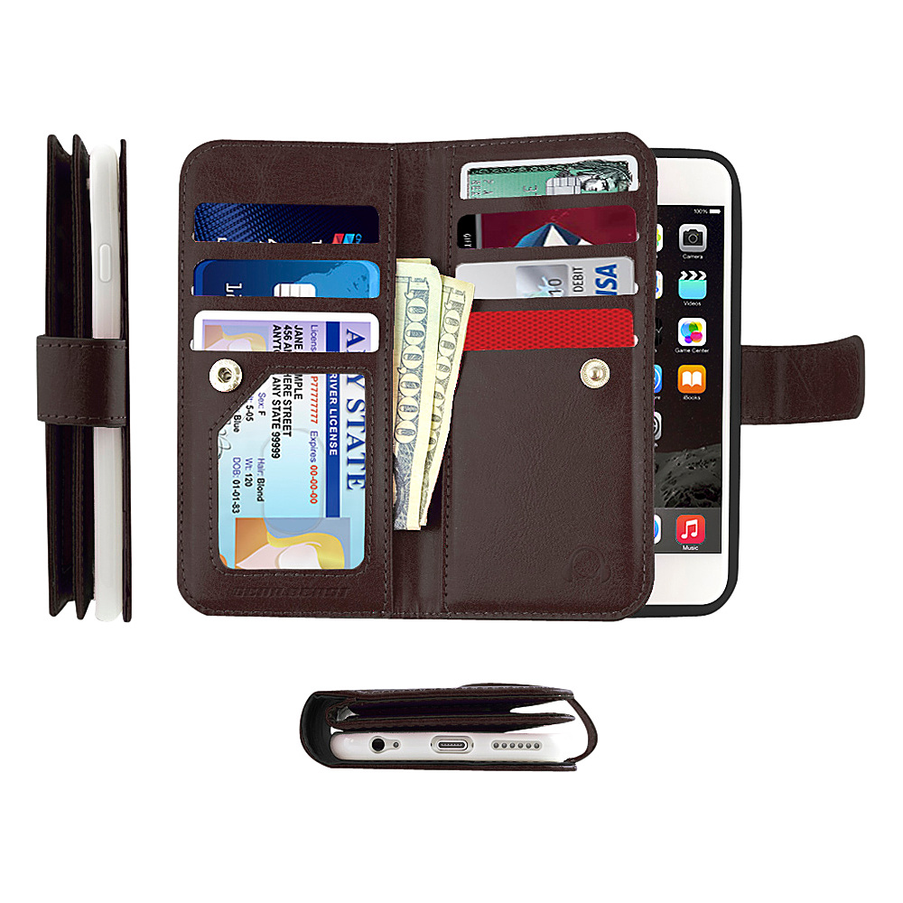 Gear Beast Dual Folio Wallet iPhone 6 Plus Case Brown iPhone 6 Plus Gear Beast Electronic Cases